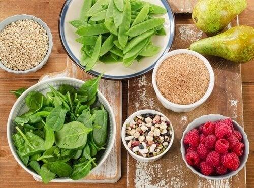 Снимка на храни, съдържащи фибри