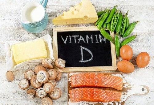 При боли в костите: колаж от храни, богати на витамин D