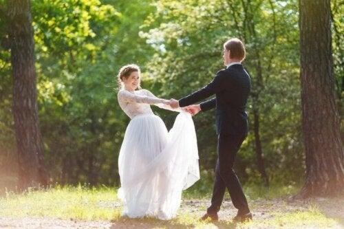Снимка на булка и младоженец