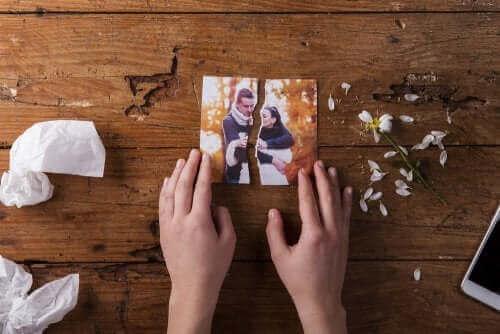 След развод: снимка на мъж и жена, разкъсана на две