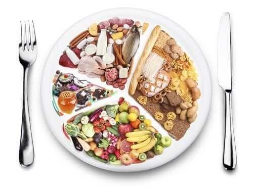 Плато със здравословни храни