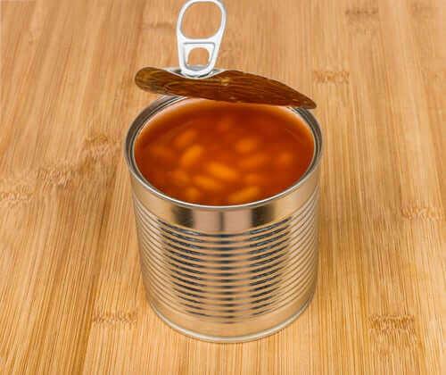 Отворена консерва боб
