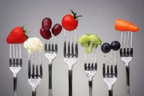 Различни видове нискокалорична храна